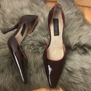 DOLLHOUSE LADIES SIZE 7.5 CHOCLATE PUMP SHOES